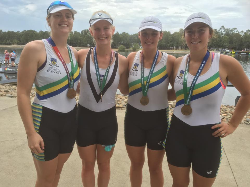 Gold for Holly, Bridget, Bree and Bronnie in the U23 Women's Coxless Four