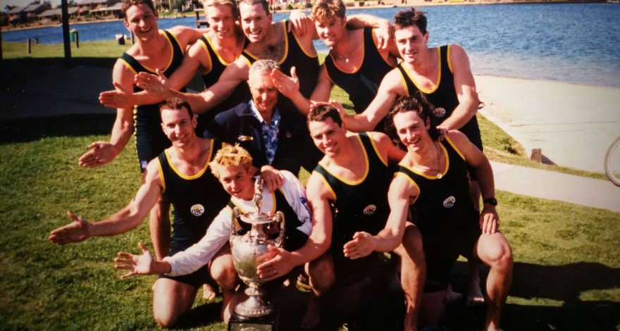 1998 UWA Intervarsity Men's Eight winners of the Oxford and Cambridge Cup