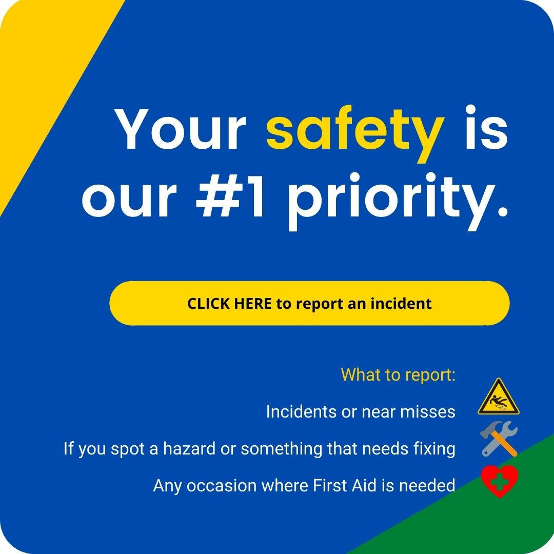 Click here to report any incidents